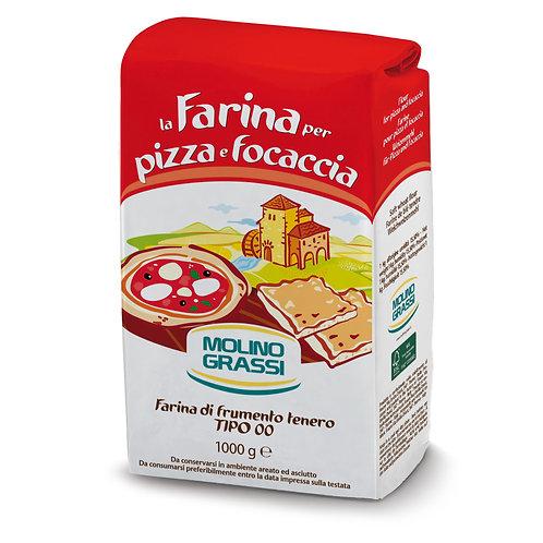 Мука из мягких сортов пшеницы для пиццы Молино Грасси 1 кг
