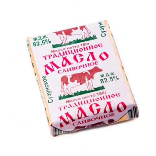 """Масло """"Сузунское"""" растительно-сливочное 82,5% 180 гр."""