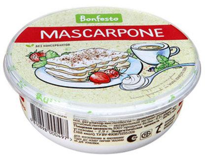 Маскарпоне сыр мягкий (Bonfesto) 78% 0,25кг