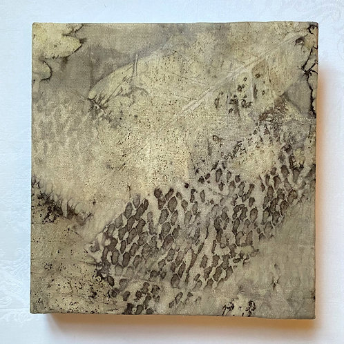 Sketch book covered with naturally-dyed antique linen