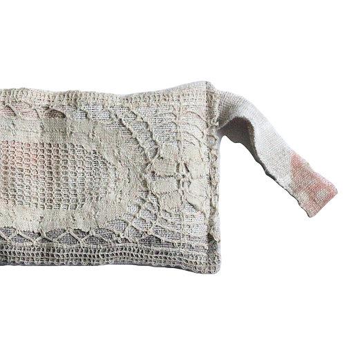 Antique French linen lavender pouch