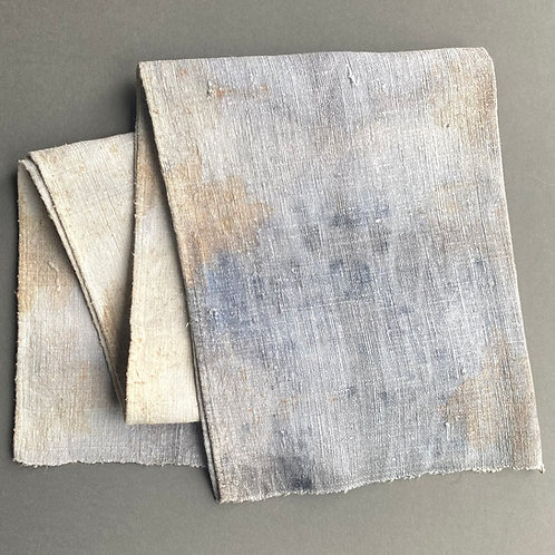 Hand-dyed rustic table runner