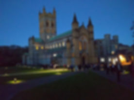 Buckfast Abbey Evening