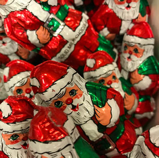 Solid Foiled Chocolate Santas