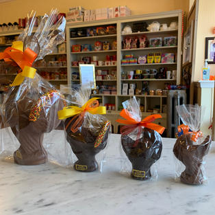 Chocolate Turkeys in Size Order