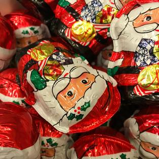 Hollow Foiled Chocolate Santa