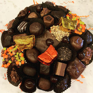 Autumn Tray of Chocolates