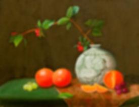 Chinese Vase with Oranges