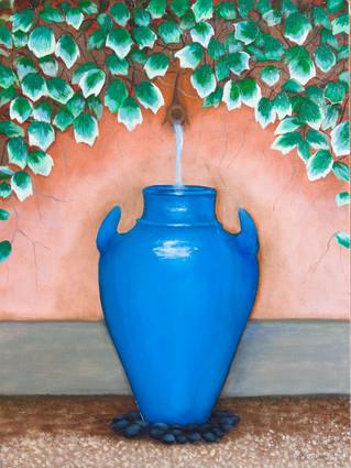 The Blue Jar Fountain