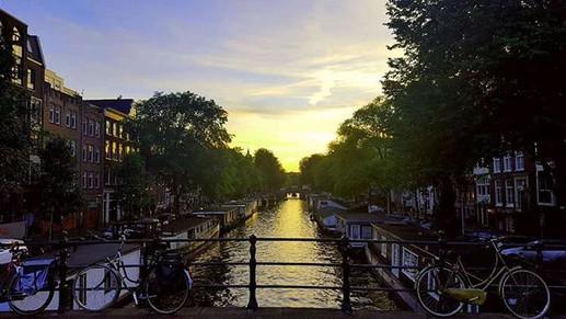 Sunset Amsterdam._#amsterdam #netherland