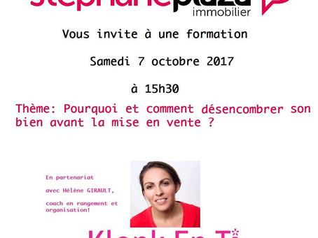 Atelier à l'agence Stéphane Plaza Immo de VANNES Samedi 7 Octobre  à 15h30