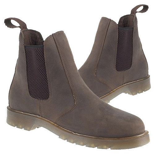 Waxy Brown Leather Dealer Boots With Air Wair Soles