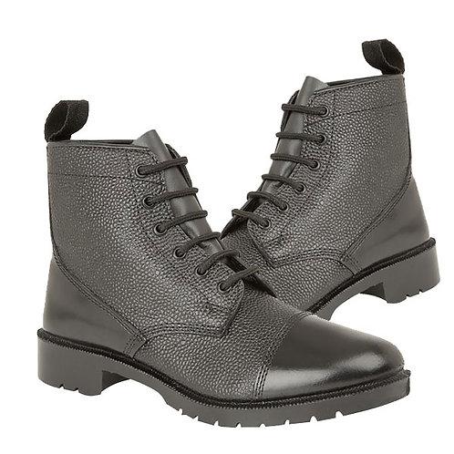 Ladies / Boys / Mens Black Grain Leather Cadet Uniform Boot