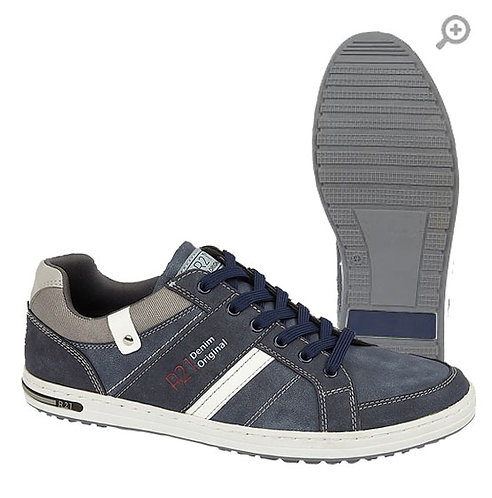 Mens Navy 6 Eye  Casual Shoes