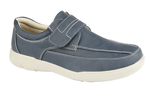 Mens Blue  Velcro Fastening Casual Shoe  Size 7