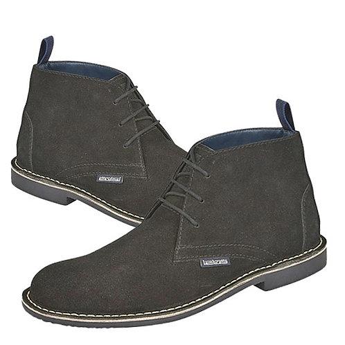 Mens Black Suede 3 Eye Desert Boots