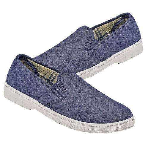 Mens Blue Canvas Summer Casuals