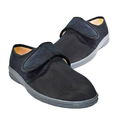 Black Lycra Stretch Superwide Mens Slippers Size 13