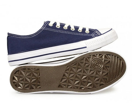 New Mens Blue Canvas Leisure Shoe End of Line  Size 9