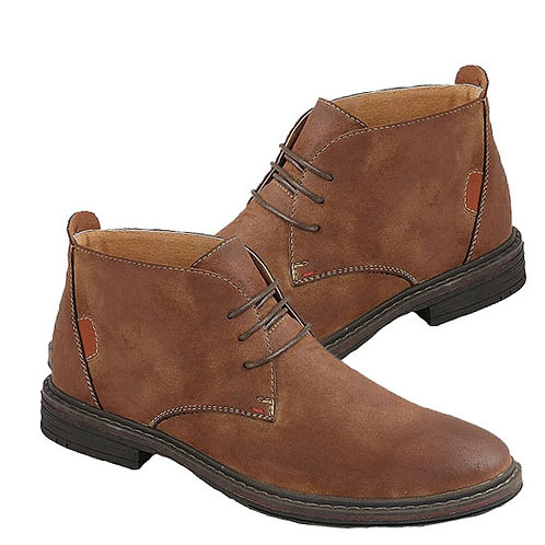 Brown Imt Nubuck Leather 3 Eye Ankle Boots