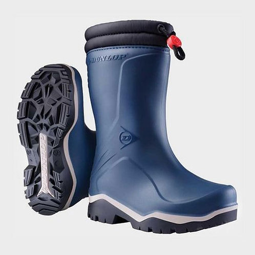 Dunlop Blue Toggle Tie Thermal Lined Blizzard Wellingtons