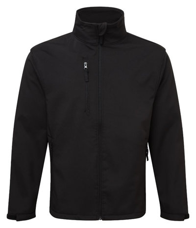 Waterproof, Windproof and Breathable Soft Shell Jacket in Black