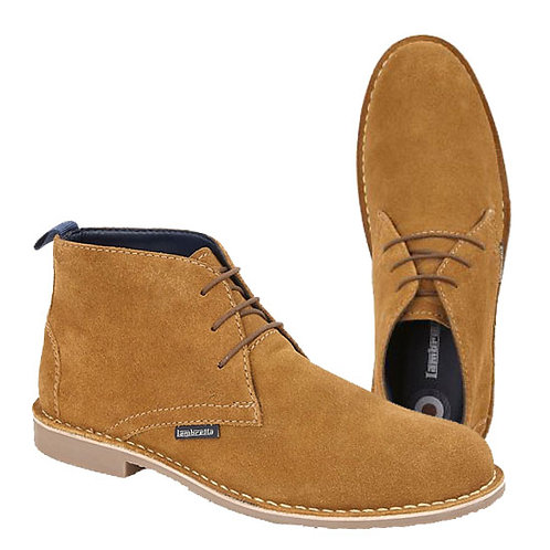 Mens Tan Suede 3 Eye Desert Boots