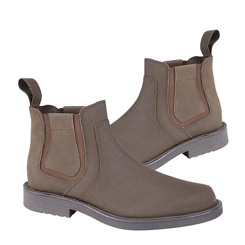 Mens Crazy Horse Leather Twin Gusset Boots