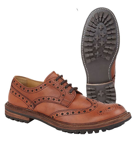 Mens Leather Rugged Brogue Gibson Shoes