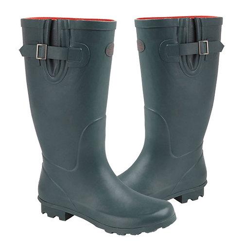 Stormwells Green  Ladies Wide Calf  Gusset Wellington Boots