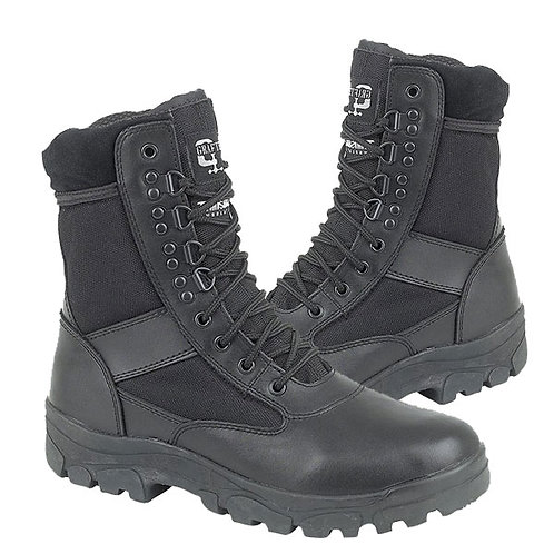 Mens and Ladies Black Leather / Nylon G Force Boots