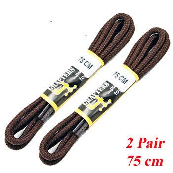 2 PR 75 cm Brown Shoe   Laces