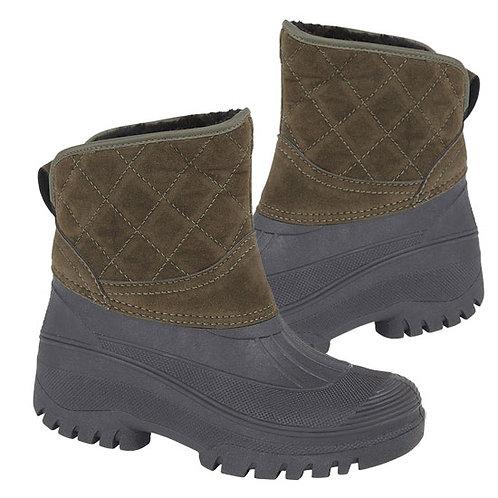 Stormwells Ladies Khaki Thermal Faux Fur Lined Boots