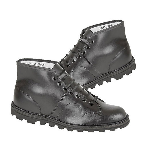 Mens and Ladies Black Leather Original Monkey Boots