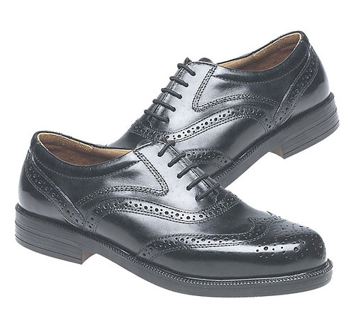 Mens Black Leather Brogue Shoes