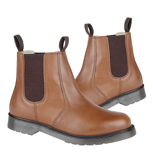 Mens / Ladies Tan Leather Chelsea Boots With Air Wair Soles