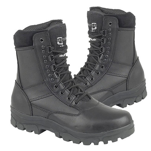 "Mens and Ladies Black Leather Thinsulate Lined ""Top Gun"" Boots"