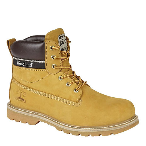 honey Nubuck Leather Utility Boots