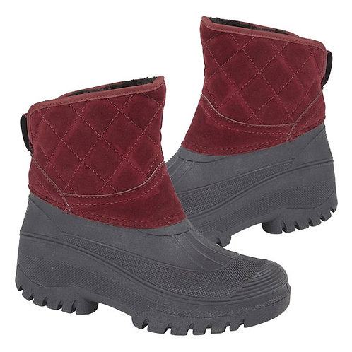 Stormwells Ladies Burgundy Thermal Faux Fur Lined Boots