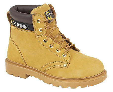 Mens/Ladies Honey Leather Safety Boots