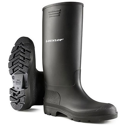 Dunlop Mens / Ladies Black Pricemaster Wellingtons