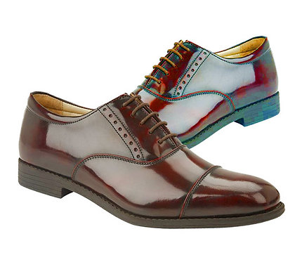 Oxblood Leather High Shine Oxford Shoes