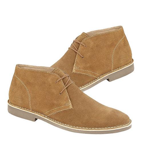 Mens Sand Suede 2 Eye Desert  Boots