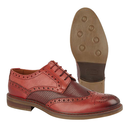 Mens Tan Leather Brogue Shoes