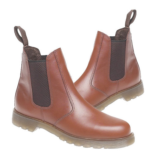 Tan Leather Dealer Boots With Air Wair Soles
