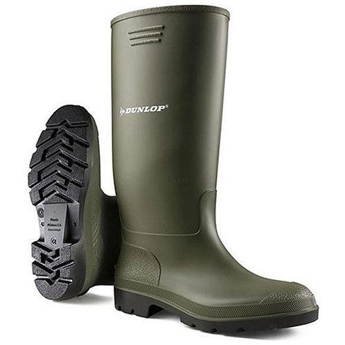 Dunlop Mens / Ladies Green Pricemaster Wellingtons