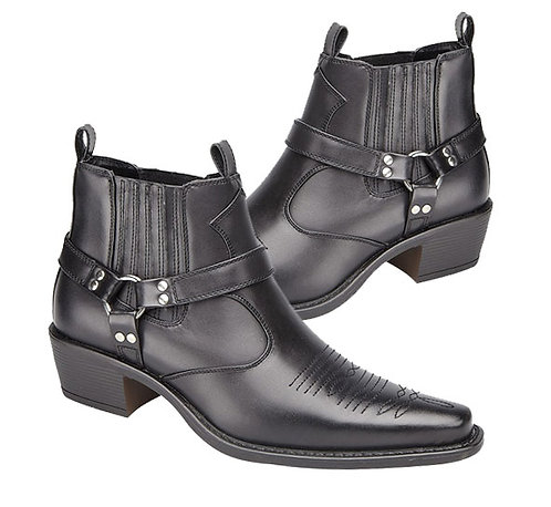 Mens Black Western Styled Boots