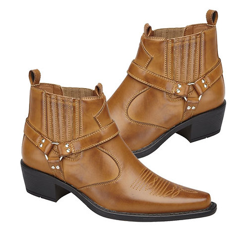 Tan Brown Western Styled Boots