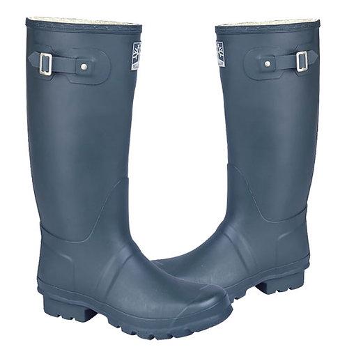 Woodland Mens / Ladies Blue Wide Fit Superior Quality Wellington Boots