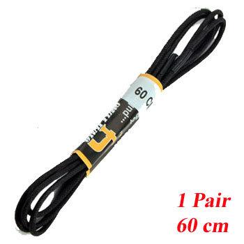 1 PR 60cm Fine Black Shoe Laces